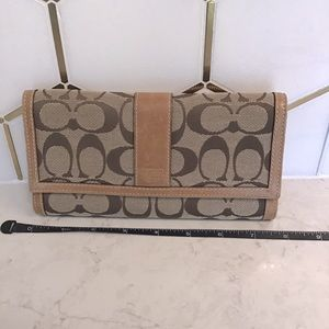 """Coach signature trifold wallet 9"""""""